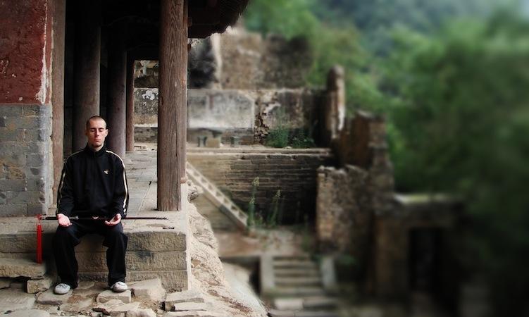Damo Mitchell in China, 2010