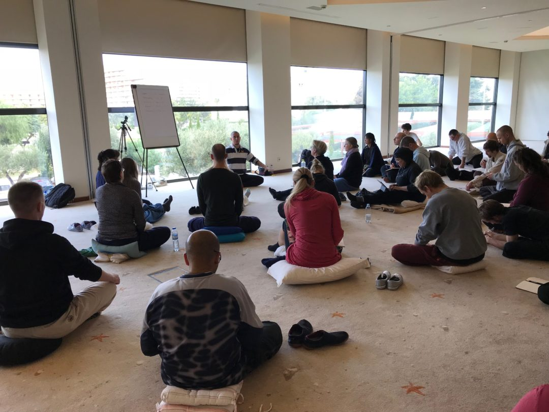 Lecturing on Qi Gong in Vilamoura