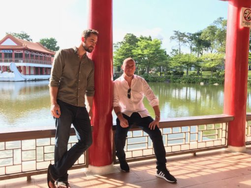 Damo and Rob Aspell